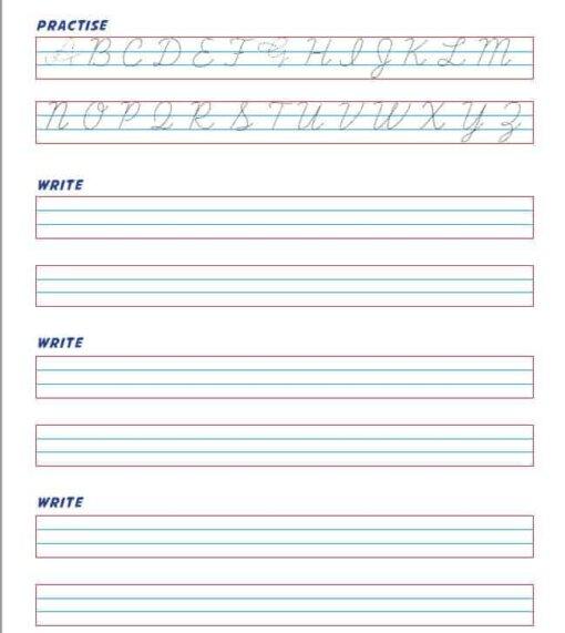 Cursive Writing - Capital ABC